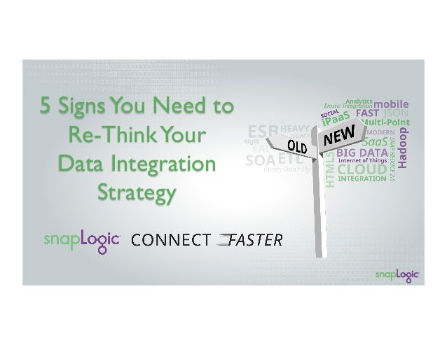 5 SignsYou Need to Re-ThinkYour Data Integration Strategy