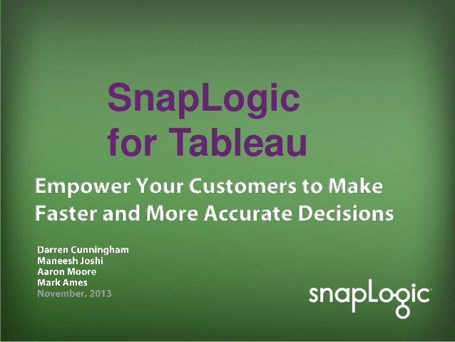 SnapLogic for Tableau