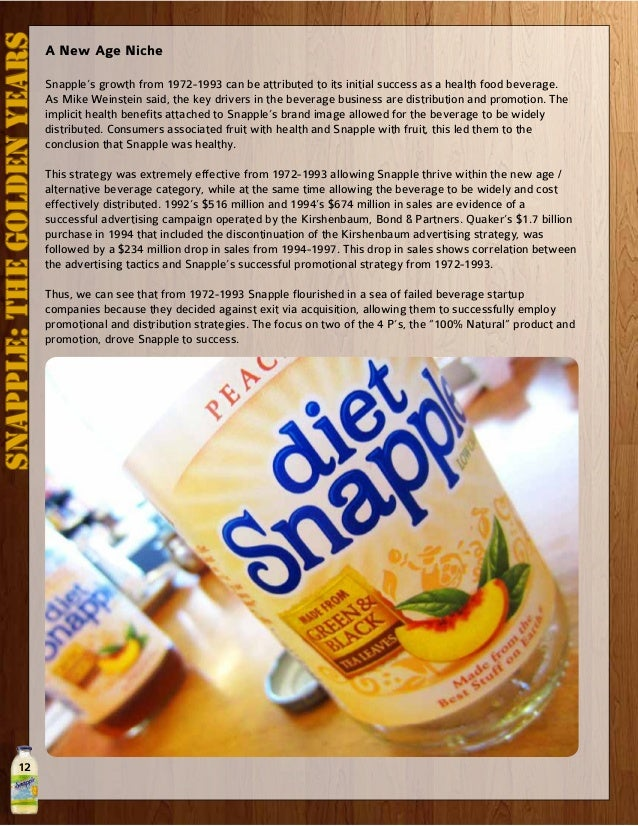 snapple case study solution