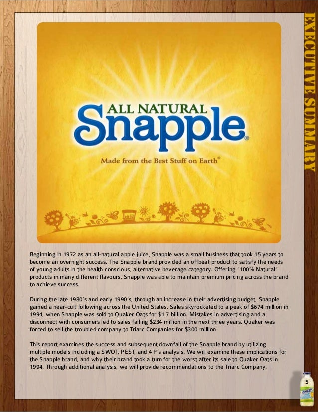 snapple acquisition