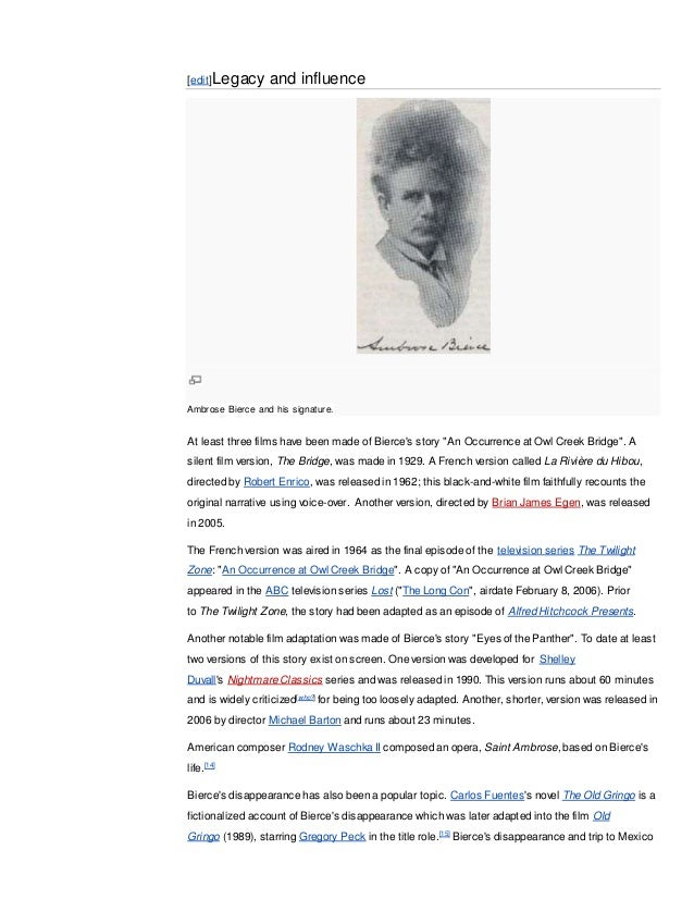 ambrose bierce writing style Research paper on author and poet ambrose bierce by donovan-870617  inspiration and prime example of a style of writing never before seen that would later become.