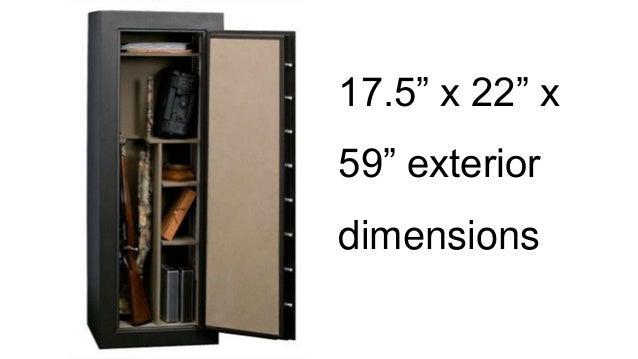 175u201d x 22u201d x 59u201d exterior dimensions