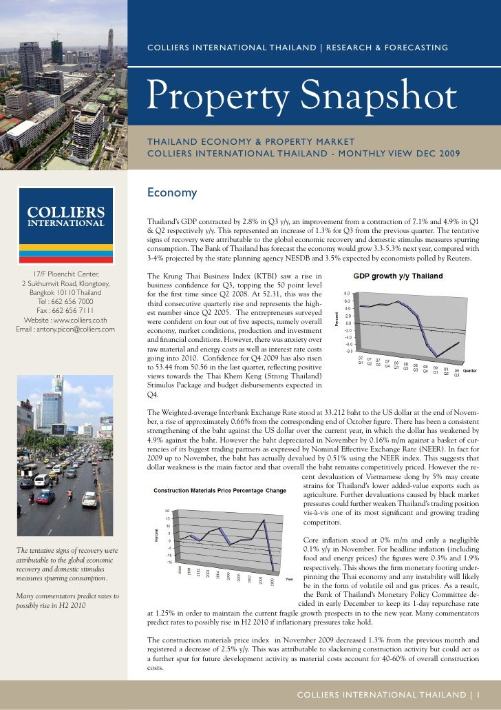 COLLIERS INTERNATIONAL THAILAND | RESEARCH & FOREC ASTING                                            Property Snapshot    ...