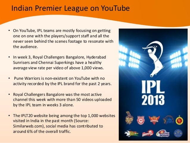 Social Scorecard• ESPNcricinfo Match Companion is the first-ever 'Social' scorecard for cricket in time forthe IPL 2013 se...