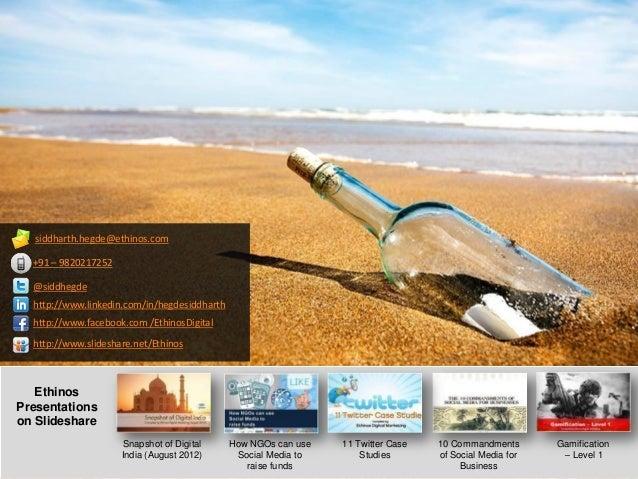 Snapshot of Digital India - May 2013