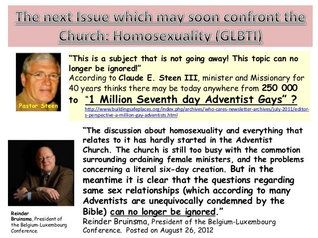 Seventh day adventist position on homosexuality and christianity