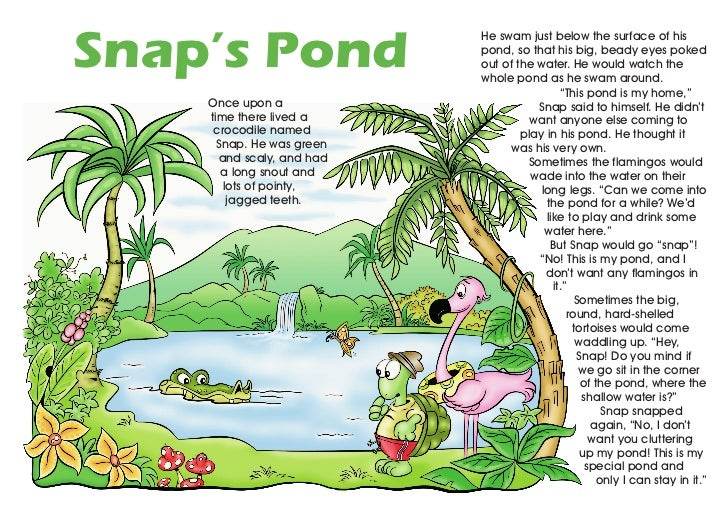 Snap's Pond                           He swam just below the surface of his                           pond, so that his bi...