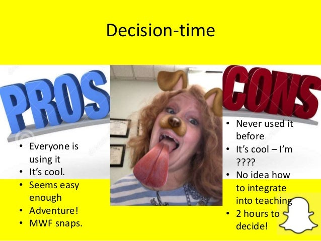 Decision-time • Never used it before • It's cool – I'm ???? • No idea how to integrate into teaching • 2 hours to decide! ...