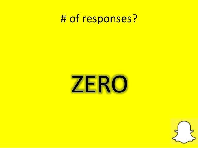 # of responses? ZERO