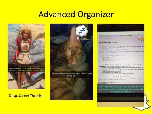 Advanced Organizer Devp. Career Theorist