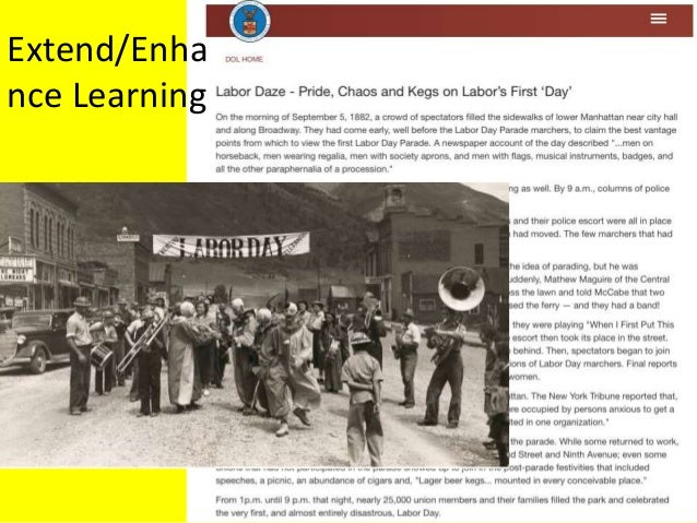 Labor Day Text Extend/Enha nce Learning