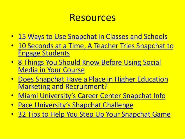 Snap This! A Snapchat Experiment in Teaching Career Development