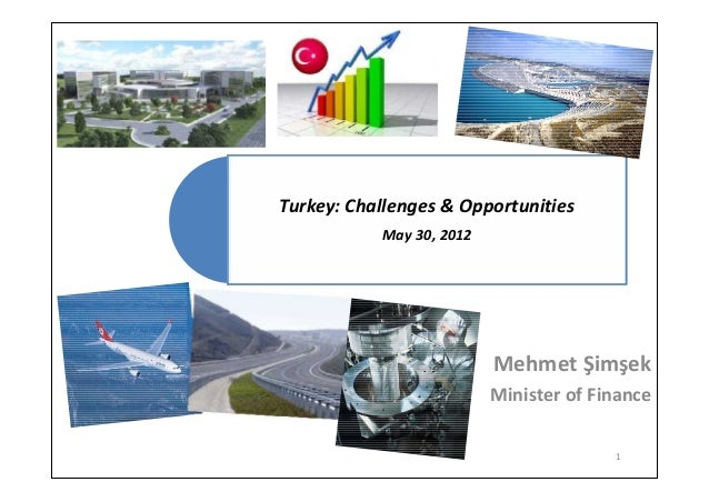 Turkey: Challenges & OpportunitiesMay 30, 2012Mehmet ŞimşekMinister of Finance1