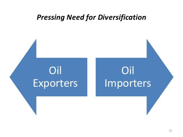 Pressing Need for Diversification Oil Exporters Oil Importers 12