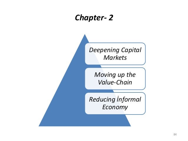Chapter- 2 84 Deepening Capital Markets Moving up the Value-Chain Reducing İnformal Economy