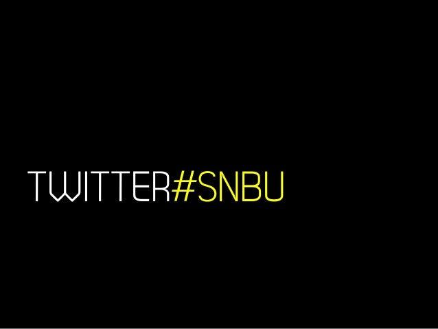 TWITTER#SNBU