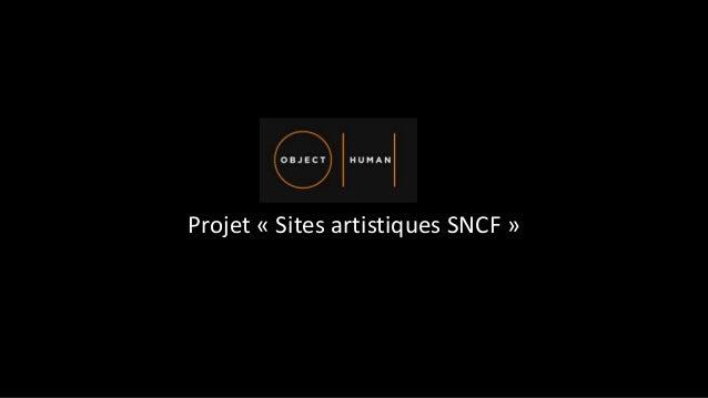 Projet « Sites artistiques SNCF »