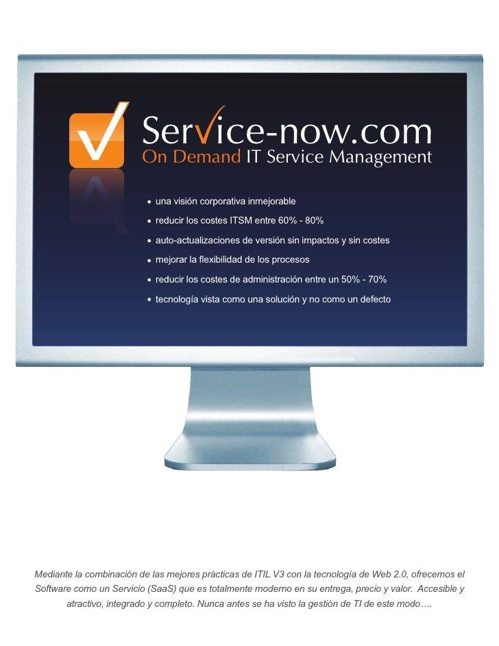 Ser ice-now.com                          On Demand IT Service Management                              una visión corporati...