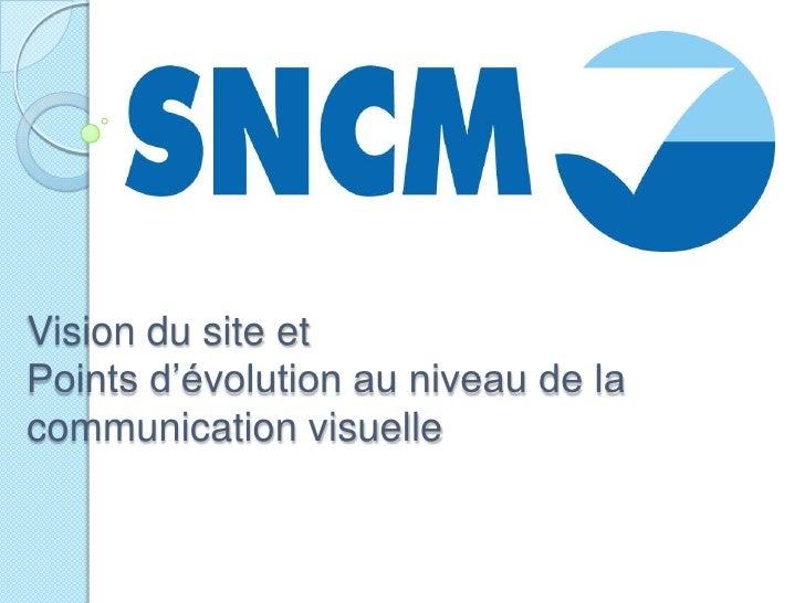 Vision du site et Points d'évolution au niveau de la communication visuelle<br />