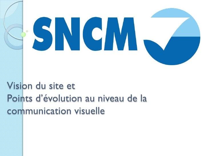 Vision du site et Points d'évolution au niveau de la communication visuelle