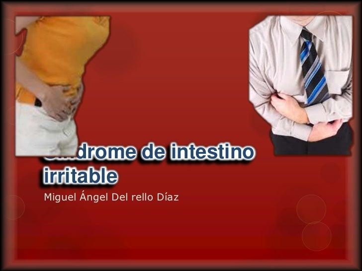 Síndrome de intestino irritable<br />Miguel Ángel Del rello Díaz<br />