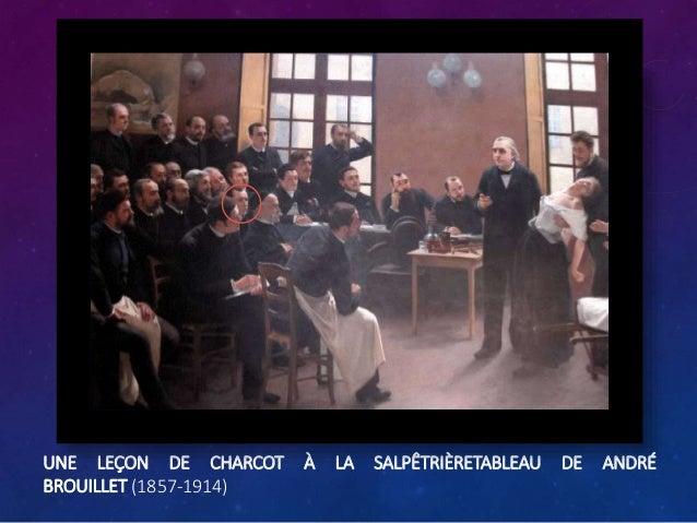 UNE LEÇON DE CHARCOT À LA SALPÊTRIÈRETABLEAU DE ANDRÉ BROUILLET (1857-1914)