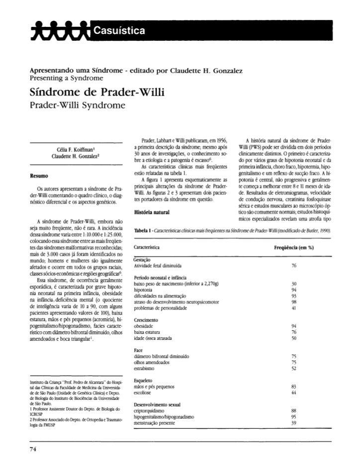 Apresentando uma Síndrome - editado por Claudette H. GonzalezPresenting a SyndromeSíndrome de Prader-WilliPrader-Willi Syn...
