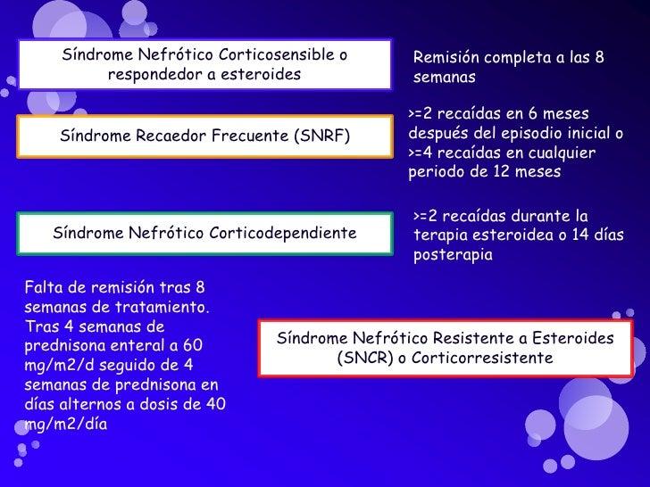 SNCM  más del 90%                     son corticosensibles                     pero 50- 70 % SNRF           Tipo deEdad  ...