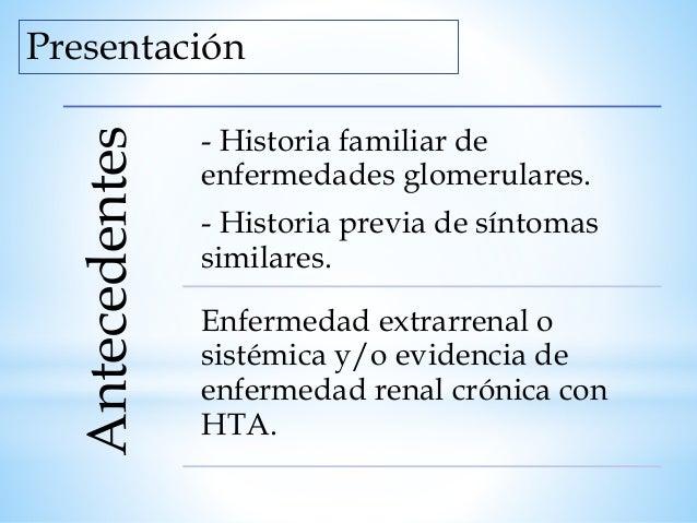 Fisiopatología Alteración Genéticas Alteración del exón Inmunológica Anti-c contra el glomérulo Perfusión Complejo Ag- Ac ...
