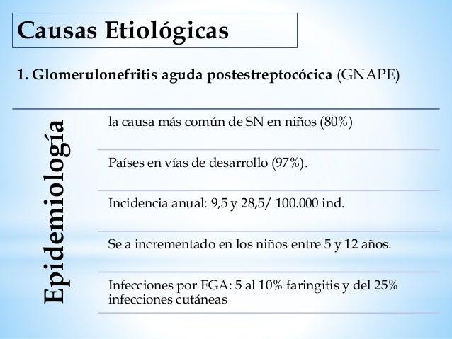Presentación • Edema periférico, ganancia de peso y astenia. • Fiebre, cefalea y dolor abdominal. Brusco Progresivo Hematu...