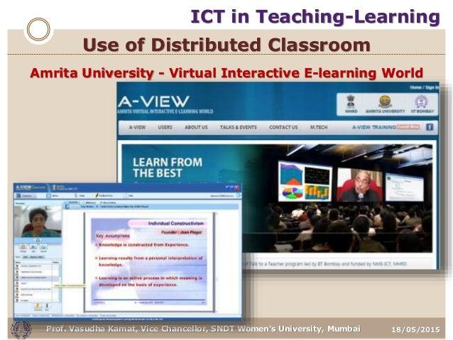 18/05/2015Prof. Vasudha Kamat, Vice Chancellor, SNDT Women's University, Mumbai Amrita University - Virtual Interactive E-...