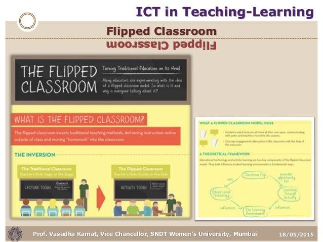 18/05/2015Prof. Vasudha Kamat, Vice Chancellor, SNDT Women's University, Mumbai Flipped Classroom FlippedClassroom ICT in ...