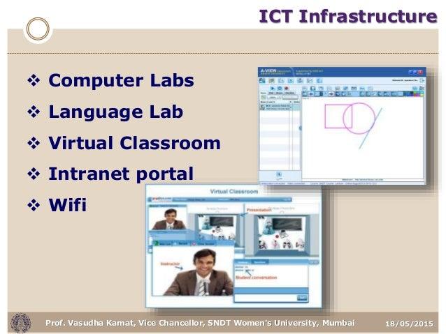 18/05/2015Prof. Vasudha Kamat, Vice Chancellor, SNDT Women's University, Mumbai ICT Infrastructure  Computer Labs  Langu...