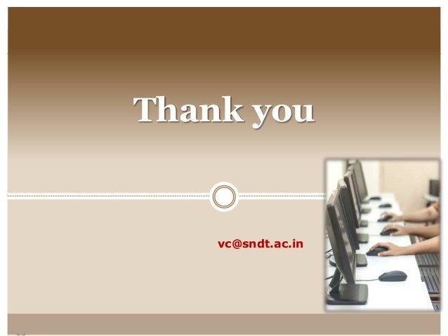 Thank you vc@sndt.ac.in