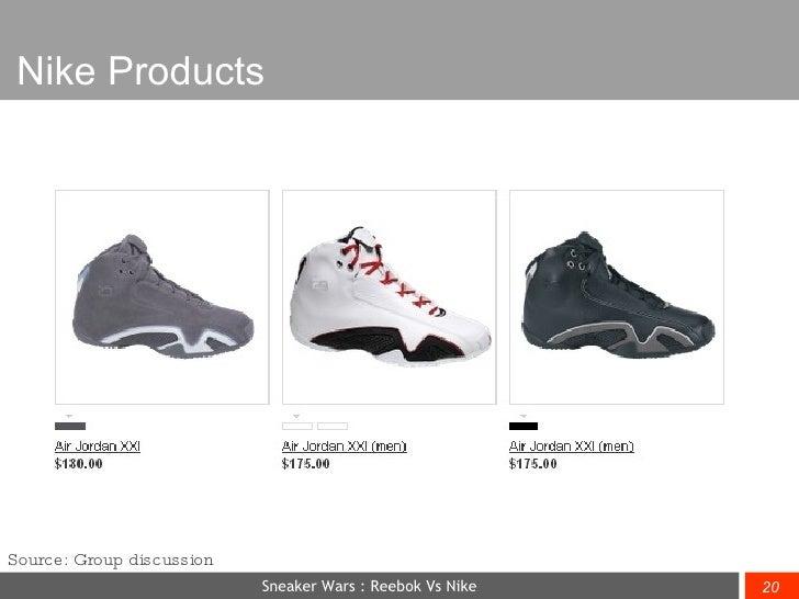 Sneaker Wars - Nike Vs Reebok