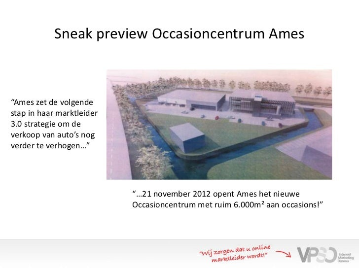 "Sneak preview Occasioncentrum Ames""Ames zet de volgendestap in haar marktleider3.0 strategie om deverkoop van auto's nogve..."