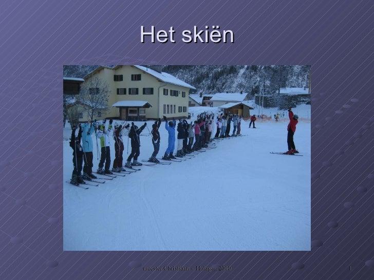 Het skiën