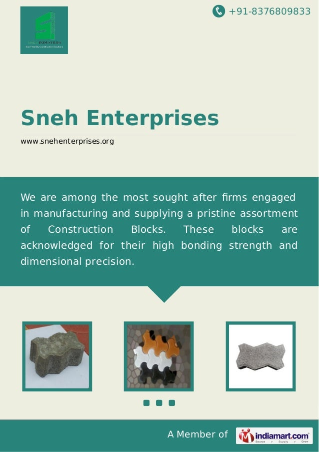 +91-8376809833  Sneh Enterprises www.snehenterprises.org  We are among the most sought after firms engaged in manufacturing...