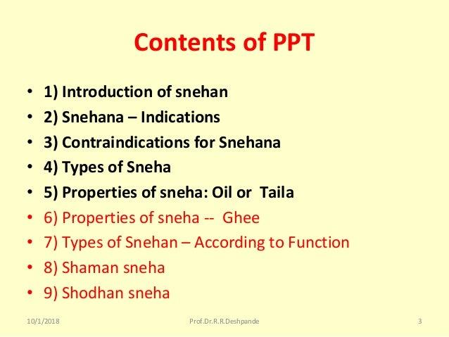 Snehan in ayurved Slide 3