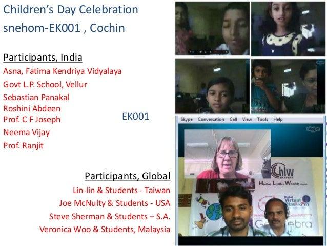 Children's Day Celebration snehom-EK001 , Cochin Participants, India Asna, Fatima Kendriya Vidyalaya Govt L.P. School, Vel...