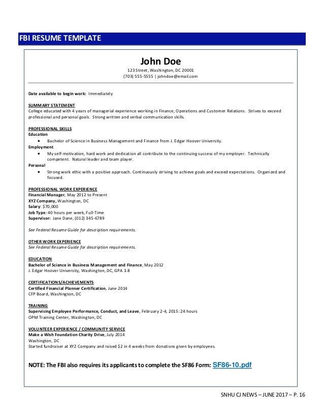 snhu cj career newsletter june 2017