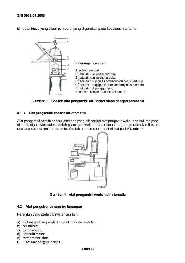 Sni 6989.59 2008 metoda pengambilan contoh air limbah