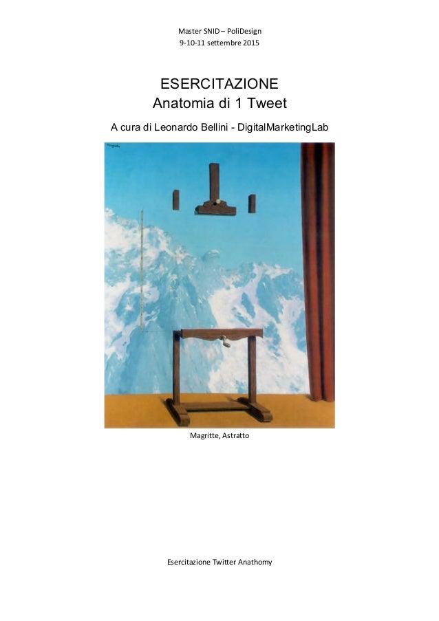 Master  SNID  –  PoliDesign   9-‐10-‐11  settembre  2015   Esercitazione  Twitter  Anathomy      ...