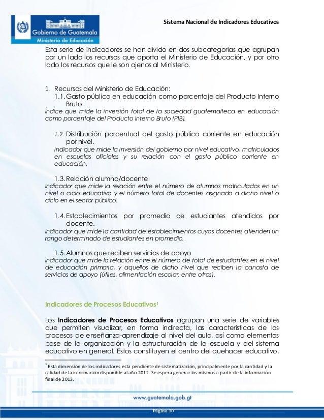 Snie guatemala for La pagina del ministerio