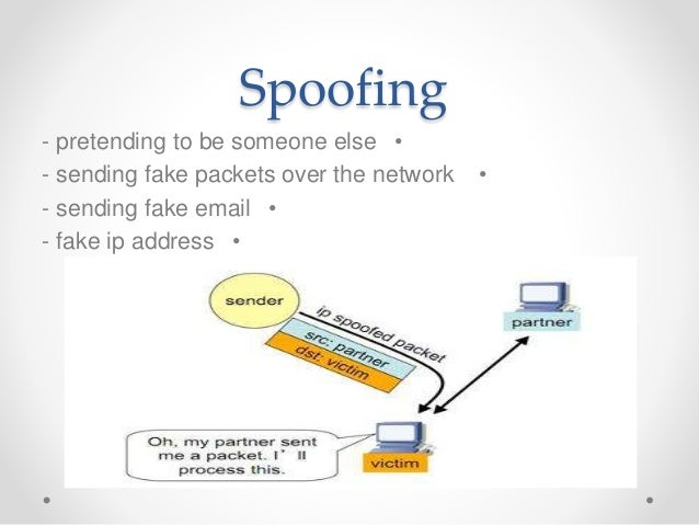 spoofing and sniffing Chapter 12 - bus 221 chapter 12 a is a number used to when referring to security threats, pretexting, sniffing, spoofing, and phishing are all examples of _____.