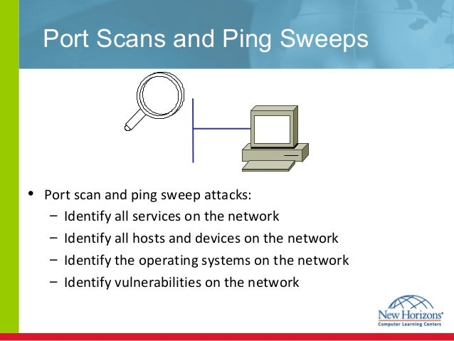 ping sweep Sometimes it can be handy to 'see' what is around you on a network, for instance when you're using dhcp on a network and you want to find which addresses are already taken.