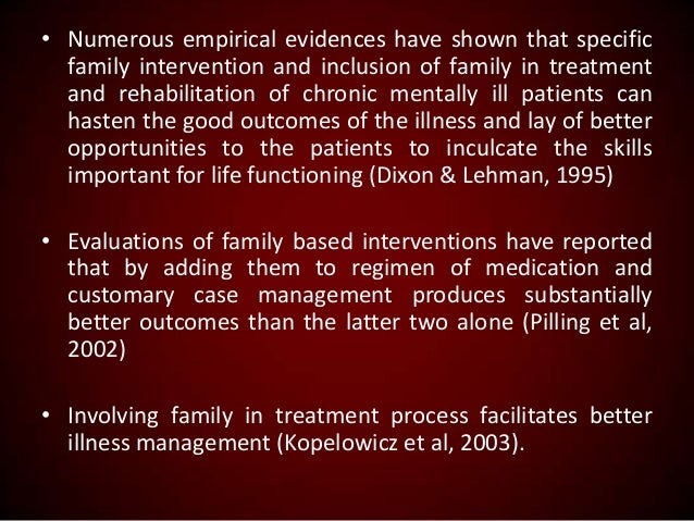 the deinstitutionalization of chronic mental patients and the characteristics of schizophrenia Characteristics influence the quality of life of patients with schizophrenia and schizophrenia is a serious mental disorder(3) patients with schizophrenia.