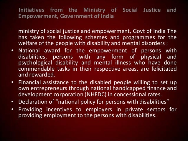 Initiatives from the Ministry of Social Justice and Empowerment, Government of India  •  • • •  ministry of social justice...