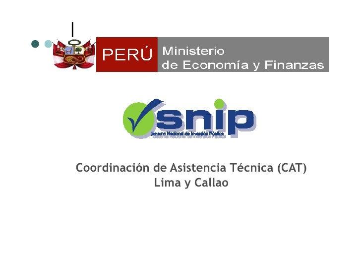 Coordinación de Asistencia Técnica (CAT)              Lima y Callao