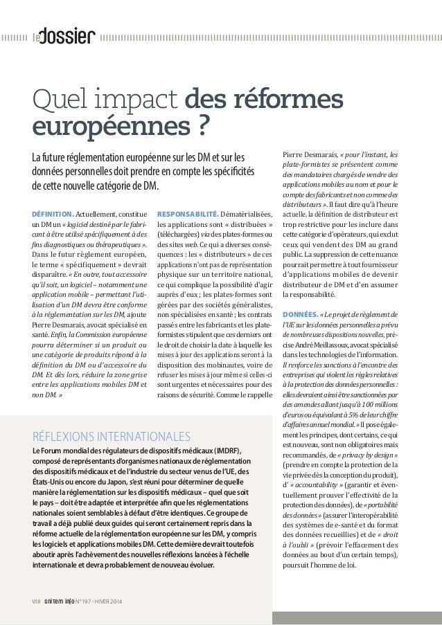 dossierle Quel impact des réformes européennes ? LafutureréglementationeuropéennesurlesDMetsurles donnéespersonnellesdoitp...
